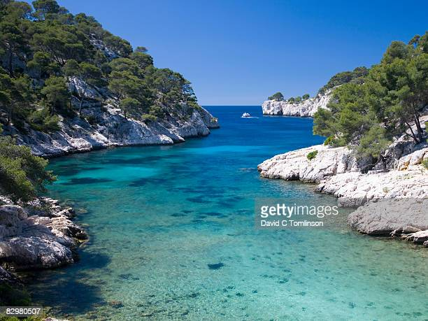 the calanque de port-pin, cassis, france - calanques stock pictures, royalty-free photos & images