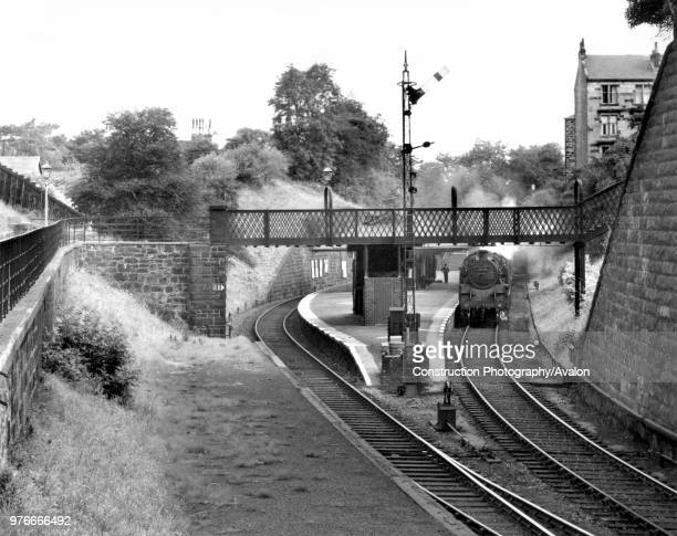 The Caledonian Railway's Mount Florida station on Glasgow's Cathcart Circle with BR Standard 2-6-4T No.80114, a Polmadie engine, at the head of a...