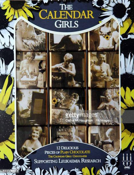 The Calendar Girls chocolates made by Yorkshire chocolatiers Whitakers bearing the WI ladies' iconic images and sold in aid of Leukaemia Research...