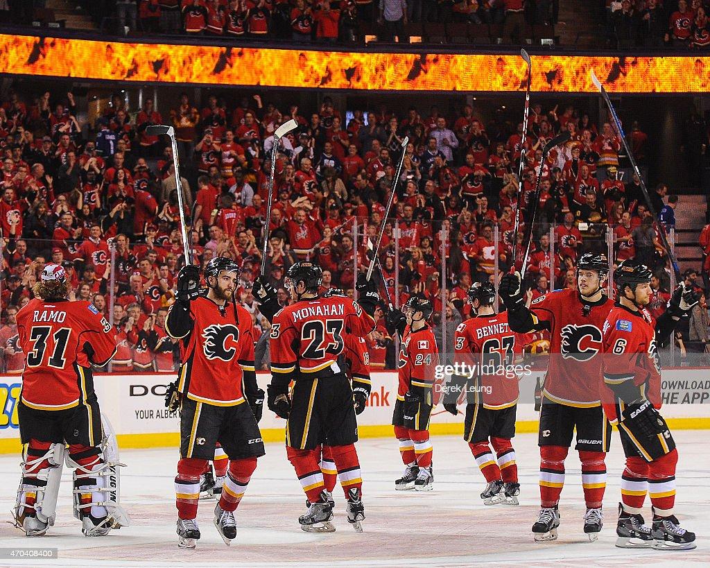 Vancouver Canucks v Calgary Flames - Game Three : News Photo