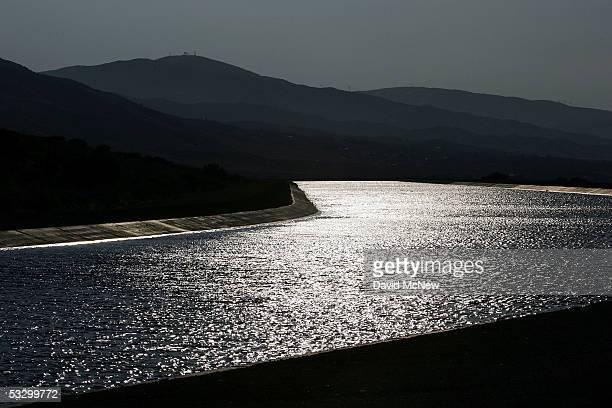 The California Aqueduct which carries water hundreds of miles from northern California to the state's southern cities flows through the desert on...