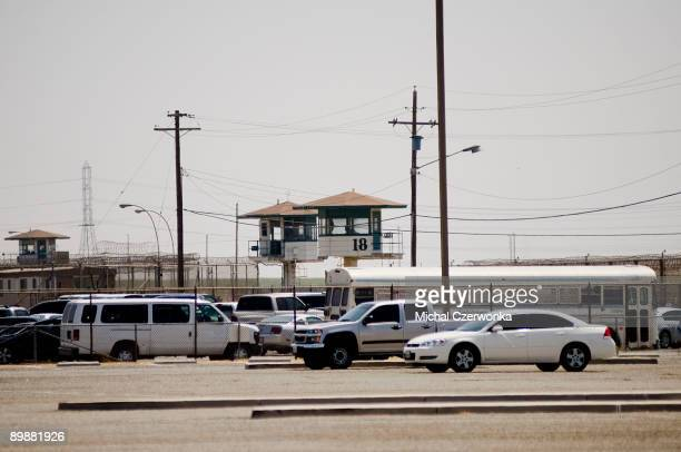 The California Institution for Men prison is seen on August 19, 2009 in Chino, California. After touring the prison where a riot took place on August...