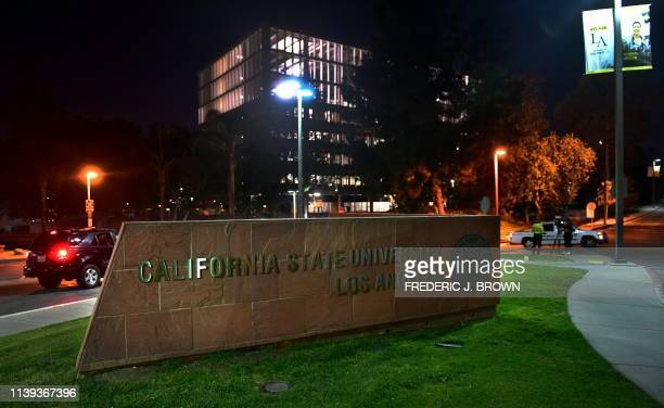 The California State Los Angeles university campus is pictured during a measles quarantine that was issued for staff and students on April 25 2019 in...