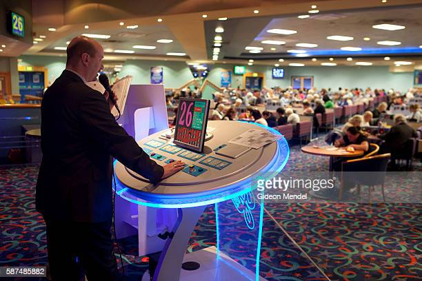The caller calls out the numbers during a busy evening at the Gala Bingo Hall in Stratford close to the site of the 2012 Olympic Games This venue is...