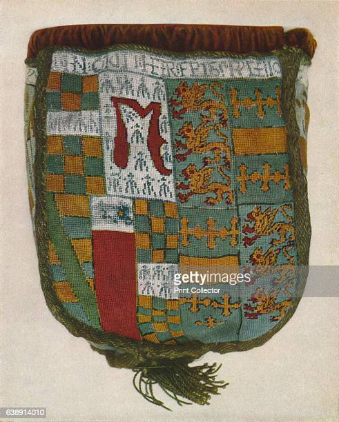 The Calthorpe Purse' c1900 A heraldic purse made around 1540 to commemorate the second marriage of Sir Henry Parker to Elizabeth Calthorpe daughter...