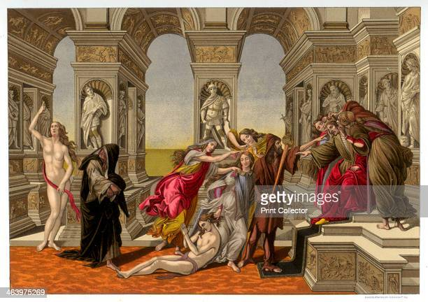 'The Calumny of Apelles' 14941495 Botticelli' spainting is based on a picture by the Ancient Greek artist Apelles Found in the collection of the...