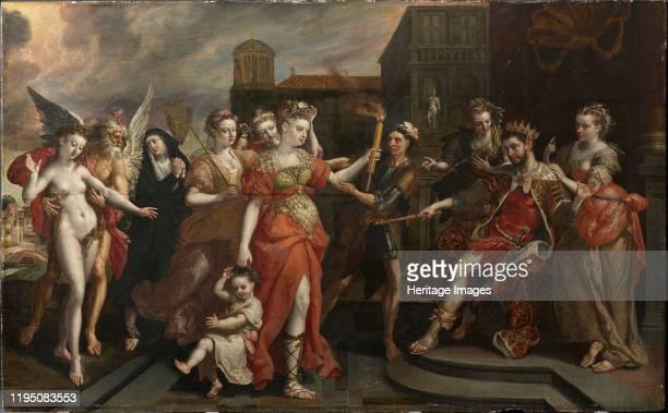 The Calumny of Apelles, End 1590s. Private Collection. Artist Vos, Maerten, de .