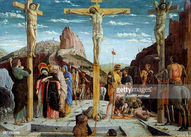 The Calvary Painting by Andrea Mantegna 15th century 076 x096 m Louvre Museum Paris