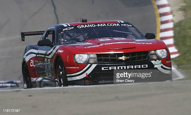 The #Camaro of Jordan Taylor and Bill Lester races during practice for the Sahlens Six Hours of the Glen at Watkins Glen International on June 3 2011...