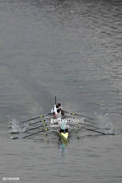 The Cambridge boat crewed by cox Sophie Shapter Olivia Coffey Myriam GoudetBoukhatmi Alice White Kelsey Barolak Thea Zabell Paula Wesselmann Imogen...