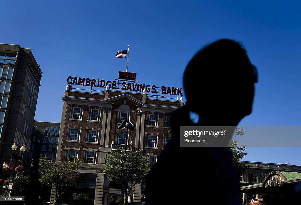 The Cambridge Savings Bank stands in Cambridge, Massachusetts, U.S., on Monday, Aug. 6, 2012. Harvard University, an American private Ivy League research university established in 1636, is the oldest institution of higher learning in the United States and the first corporation chartered in the country. Photographer: Brent Lewin/Bloomberg via Getty Images