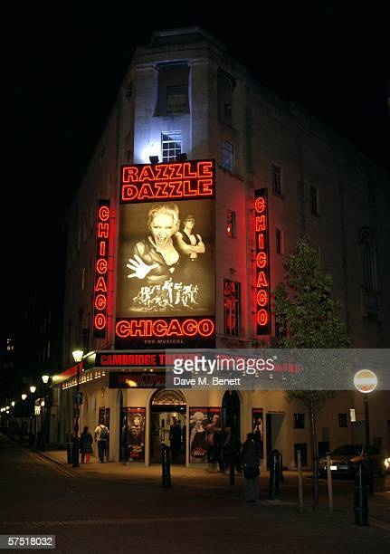 The Cambridge Theatre showing Chicago The Musical is shown on May 2 2006 in London England