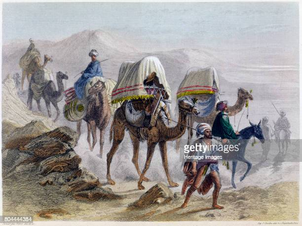 The Camel Train' 1855 From Constantinople and the Black Sea Artist Rouargue Brothers