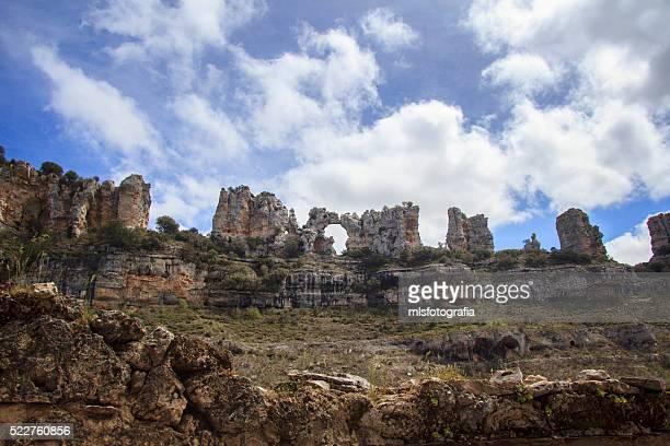 the camels - orbaneja del castillo photos et images de collection