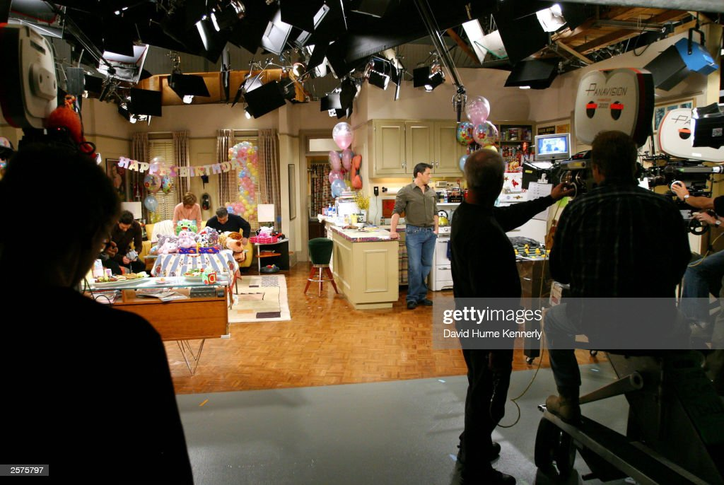 The camera crew prepares to shoot a scene of the hit NBC series 'Friends' during one of their last shows on the Warner Bros lot Sept. 12, 2003 in Burbank, CA. 'Friends,' which is in its ninth and final season, debuted in 1994, has won 44 Emmys, and is one of the biggest successes in television history. (Photo by David Hume Kennerly/Getty Images) This image is not included in any subscription deal. Use of this image will incur a charge.
