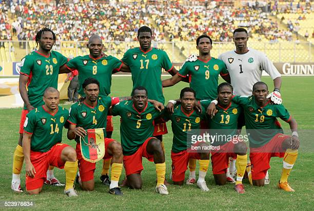 The Cameroon team pose for a team photograph before the Group C African Cup of Nations 2008 match between Egypt and Cameroon at the Baba Yara Stadium...