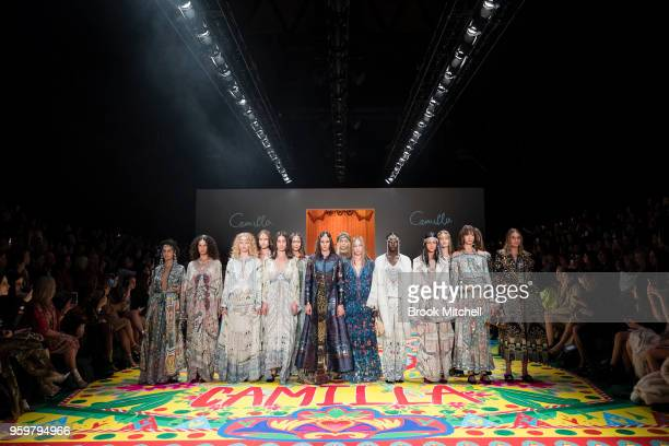 The Camilla Opening Showcase at Mercedes-Benz Fashion Week Australia - Weekend Edition at Carriageworks on May 18, 2018 in Sydney, Australia.