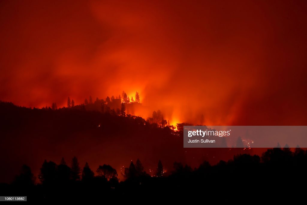 Rapidly-Spreading Wildfire In California's Butte County Prompts Evacuations : News Photo
