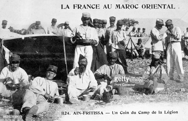 The Camp of the Foreign Legion Ain Fritissa Morocco 20th century French postcard