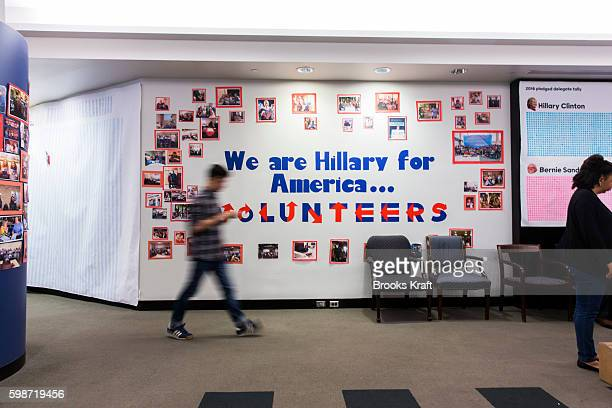The campaign headquarters for Democratic presidential candidate Hillary Clinton June 28 2016 in Brooklyn NY