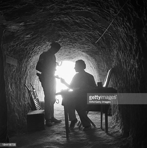 The Campaign In North Africa 1941 The commanding officer of an armoured unit receives a message at his HQ located in a tunnel within the Tobruk...
