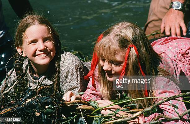 PRAIRIE 'The Campout' Episode 9 Aired Pictured Melissa Gilbert as Laura Elizabeth Ingalls Wilder Alison Arngrim as Nellie Oleson Photo by NBCU Photo...