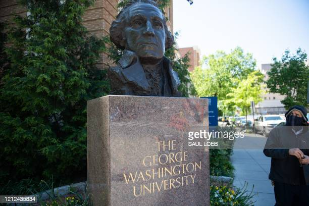 The campus of George Washington University is seen as classes were canceled due to the coronavirus pandemic, in Washington, DC, May 7, 2020. - The...