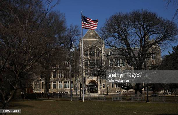 The campus of Georgetown University is shown March 12, 2019 in Washington, DC. Georgetown University and several other schools including Yale,...