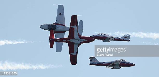 TORONTO ON SEPTEMBER 2 The Canadian Forces Snowbirds perform during at the Canadian International Air Show that closes out the final weekend of the...