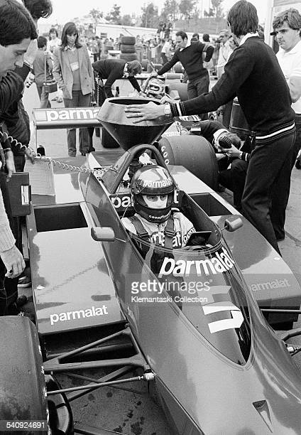The Canadian Grand Prix Montreal September 30 1979 Riccardo Zunino a last minute replacement for Niki Lauda sits in the new Brabham BT49 He would...