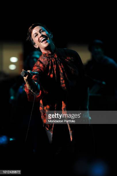 The Canadian singer Alanis Morissette performs during the Rome Summer Fest at the auditorium of the Parco della Musica Auditorium Rome July 9th 2018