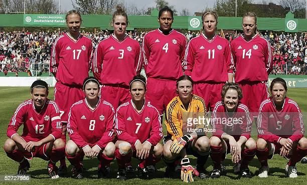 The Canadian Women's National Team pose for a picture on April 21, 2005 in Osnabruck, Germany.