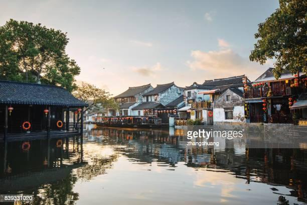 The canal town of Xitang,HangZhou