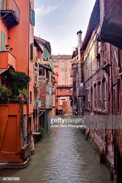 The Canale delle Moline in Bologna.