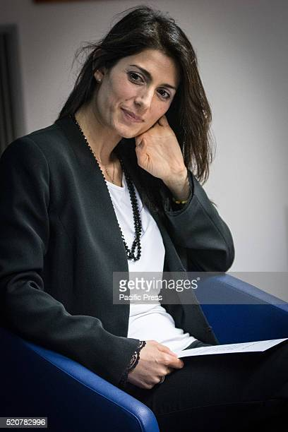 The candidate for mayor of Rome the fivestar Movement Virginia Raggi meets entrepreneurs of CNA