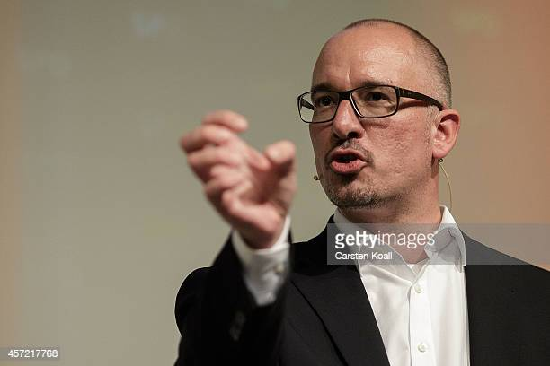 The candidate for the office of Mayor in Berlin SPD state chairman Jan Stoess speaks at a state parliament session where members will vote to select...