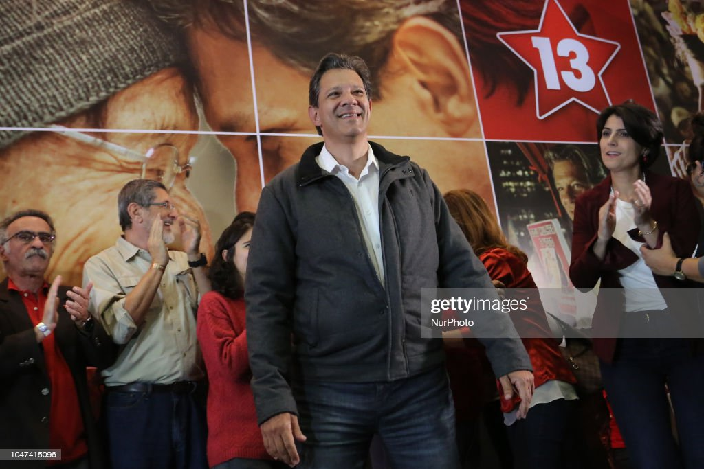 Fernando Haddad Makes Speech After The Election : News Photo