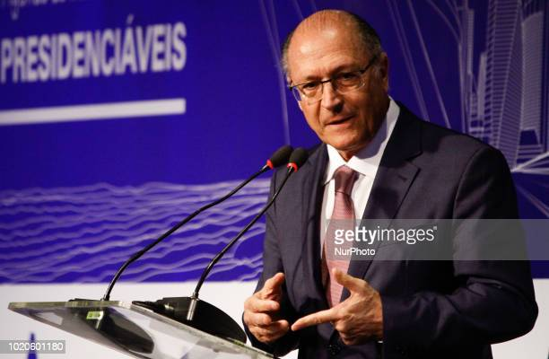 The candidate for the President of Brazil Geraldo Alckmin participates in the Infrastructure Forum with Presidential in São Paulo on Monday August 20...