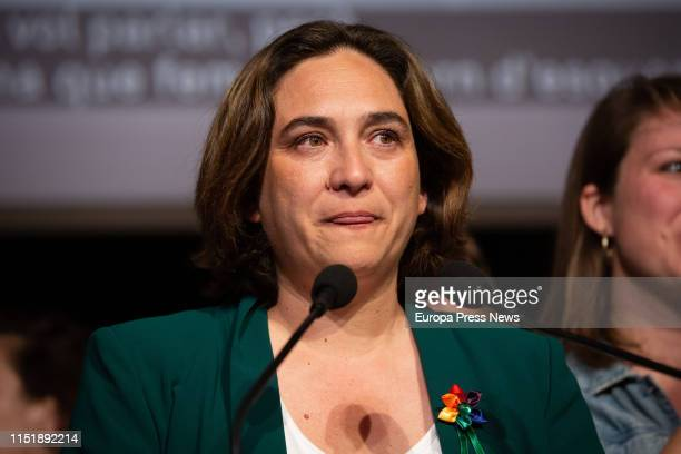 The candidate of En Comu to the mayoralty of Barcelona, Ada Colau, gives a press conference after knowing the loss of the mayoralty on May 27, 2019...