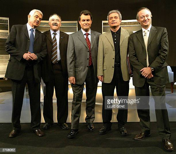 The candidate of the Catalan Nationalist Party Convergencia i Unio Artur Mas the Catalan Socialist Party Psaqual Maragall the catalan ecologist Party...