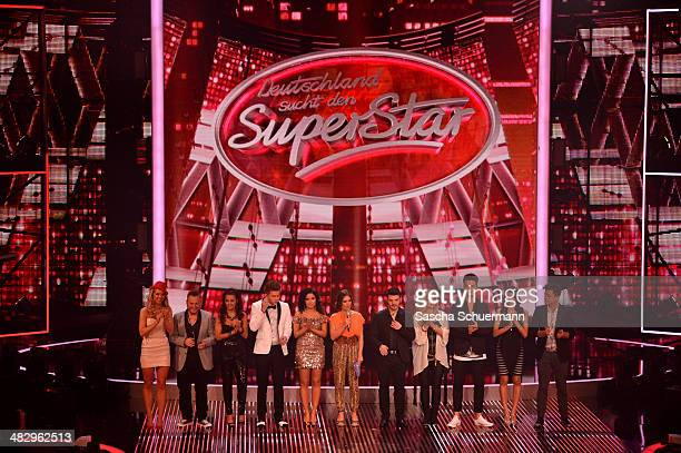 The candidates attend the rehearsal for the 2nd 'Deutschland sucht den Superstar' show at Coloneum on April 5 2014 in Cologne Germany