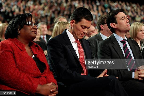 The candidates for the leadership of the Labour Party wait to hear the leadership announcement at the beginning of the annual Labour Party Conference...