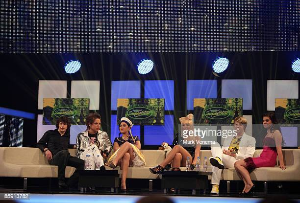 The candidates pictured backstage during the rehearsal for the singer qualifying contest DSDS 'Deutschland sucht den Superstar' 5th motto show on...