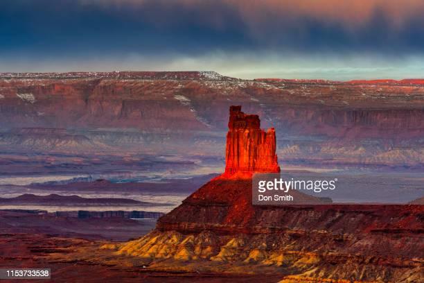 the candlestick, canyonlands national park - canyonlands national park stock pictures, royalty-free photos & images