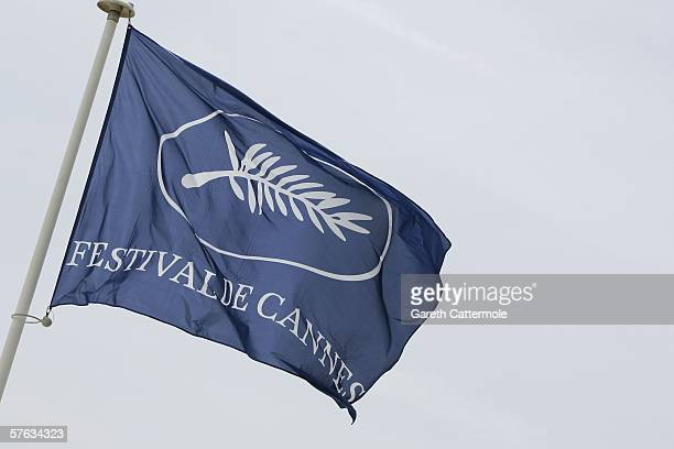 The Cannes official flag flies in the wind during the 59th International Cannes Film Festival May 17, 2006 in Cannes, France.