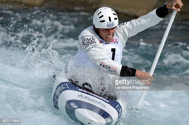 The Canoe Slalom British Olympic Games selection Trials Lee Valley Water Centre UK C1 Mallory Franklin
