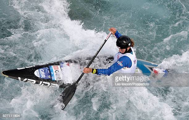The Canoe Slalom British Olympic Games selection Trials Lee Valley Water Centre UK C1 Class Mallory Franklin