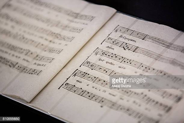 The cantata 'Per la Ricuperata Salute di Offelia' created by composers Wolfgang Amadeus Mozart and Antonio Salieri and an unknown composer Cornetti...