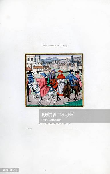 The Canterbury Pilgrimage late 15th century A 19thcentury version of Chaucer's pilgrims from a manuscript of Lydgate's Storie of Thebes Illustration...