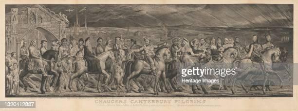 The Canterbury Pilgrims, 1810. Artist William Blake.